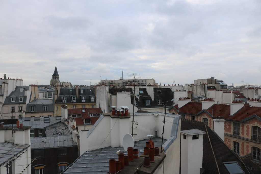 Paris rooftop views courtesy of Airbnb